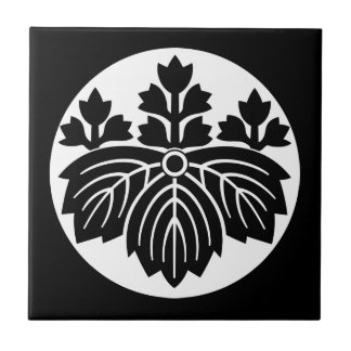 Pointed-leaf Paulownia with 53 blooms in rice cake Ceramic Tile