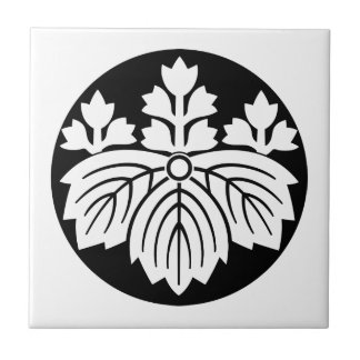 Pointed-leaf Paulownia with 53 blooms in rice cake Tile