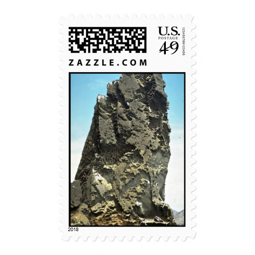 Pointed rock detail, Bartolome Island, Galapagos I Stamp