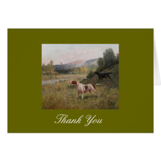 Pointer and Gordon Setter Thank You Note Card