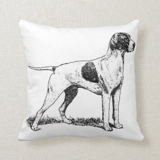 pointer art 3 throw pillow