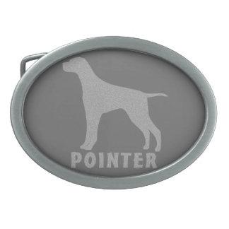 Pointer Oval Belt Buckles
