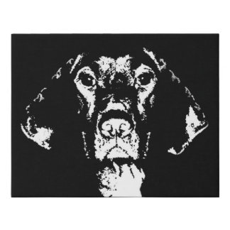 Pointer Black & White Faux Wrapped Canvas Wall Art