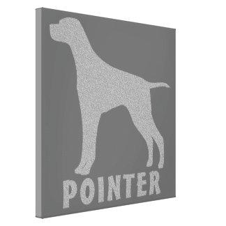 Pointer Canvas Print