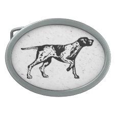 pointer dog belt buckle