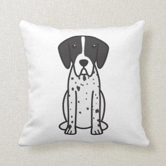 Pointer Dog Cartoon Throw Pillow
