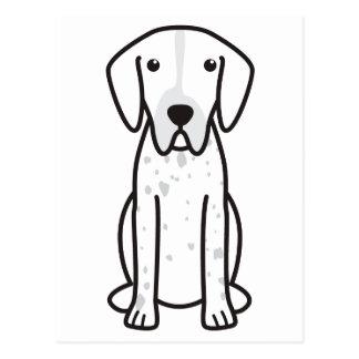 Pointer Dog Cartoon Postcard