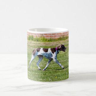 Pointer dog classic white coffee mug