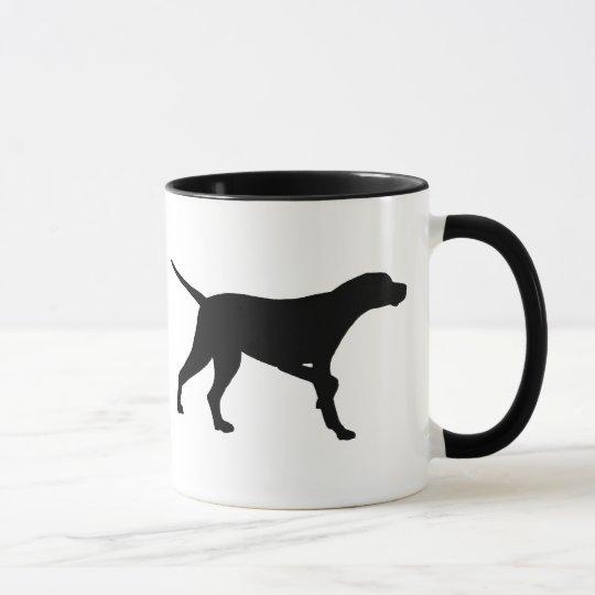 Pointer Dog (in black) Mug