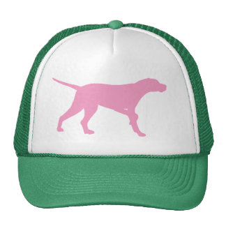 Pointer Dog (in pink) Hats