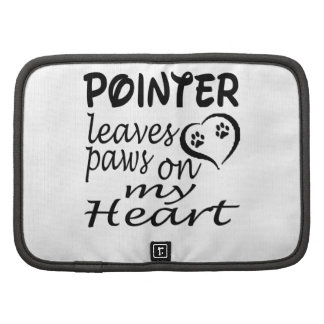 Pointer Dog Leaves Paw On My Heart Folio Planners