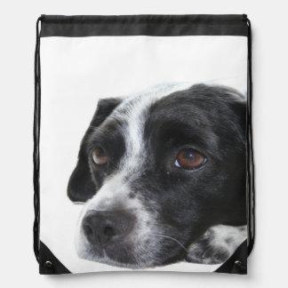 Pointer Dog Drawstring Backpack