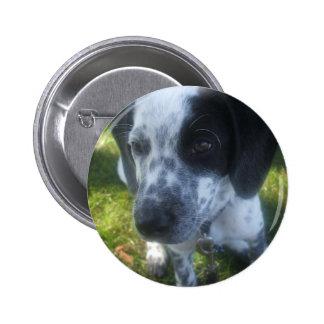 Pointer Dog Round Button