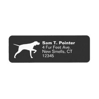 Pointer Dog Silhouette Custom Return Address Label
