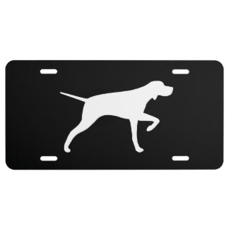 Pointer Dog Silhouette License Plate