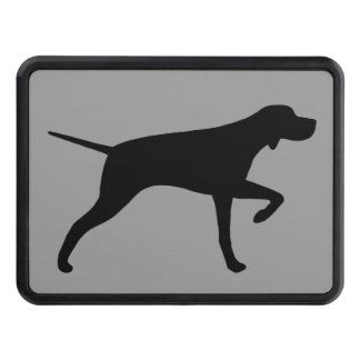 Pointer Dog Silhouette Tow Hitch Cover