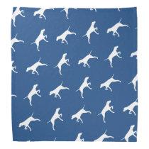 Pointer Dog Silhouettes Pattern Bandana