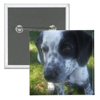 Pointer Dog Square Pin