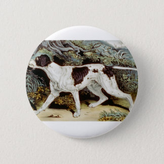 Pointer Dog Water color Button