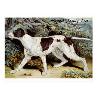 Pointer Dog Water color Postcard