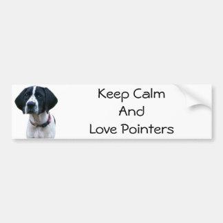 Pointer Love Bumper Sticker