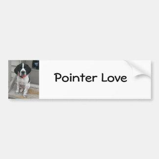 Pointer Love Car Bumper Sticker