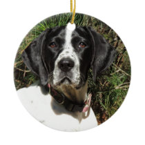 Pointer Love Ceramic Ornament