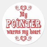 POINTER Love Classic Round Sticker