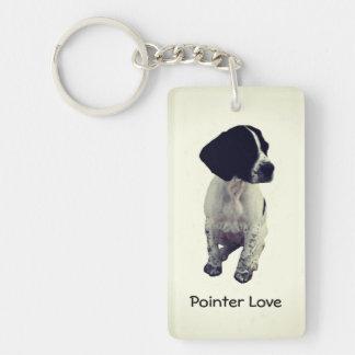 Pointer Love Single-Sided Rectangular Acrylic Keychain