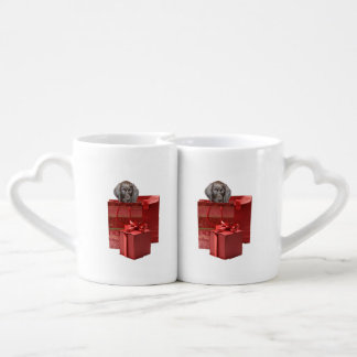 Pointer Puppy Christmas Gift Coffee Mug Set