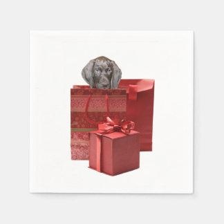 Pointer Puppy Christmas Gift Standard Cocktail Napkin