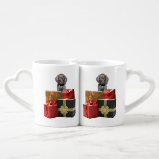 Pointer Puppy Christmas Gifts Coffee Mug Set