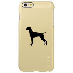 Pointer Silhouette Love Dogs Incipio Feather Shine iPhone 6 Plus Case