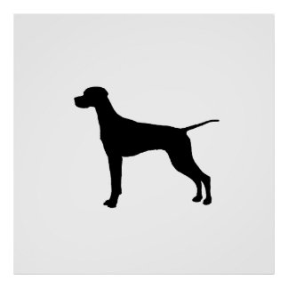Pointer Silhouette Love Dogs Poster