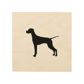 Pointer Silhouette Love Dogs Wood Wall Decor