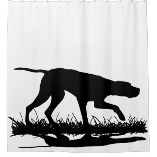 Pointer Silhouette Shower Curtain
