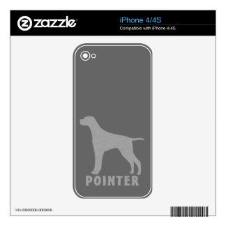 Pointer Skin For iPhone 4