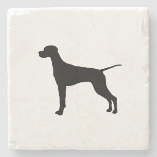 Pointer sporting hunting dog Silhouette Stone Coaster