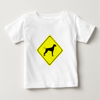 Pointer Warning Sign Love Dogs Silhouette Baby T-Shirt