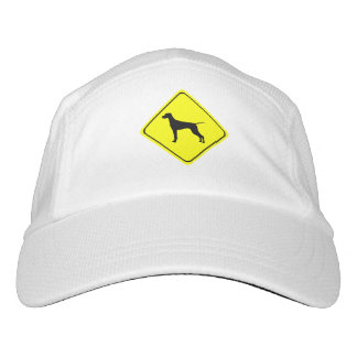Pointer Warning Sign Love Dogs Silhouette Headsweats Hat