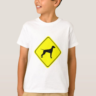 Pointer Warning Sign Love Dogs Silhouette T-Shirt