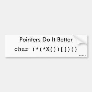 Pointers Do It Better Bumper Sticker