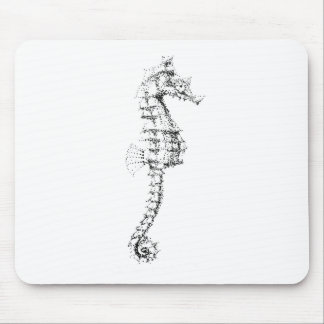 Pointilism Seahorse Mouse Pad