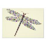 Pointilist Dragon Fly 5x7 Paper Invitation Card