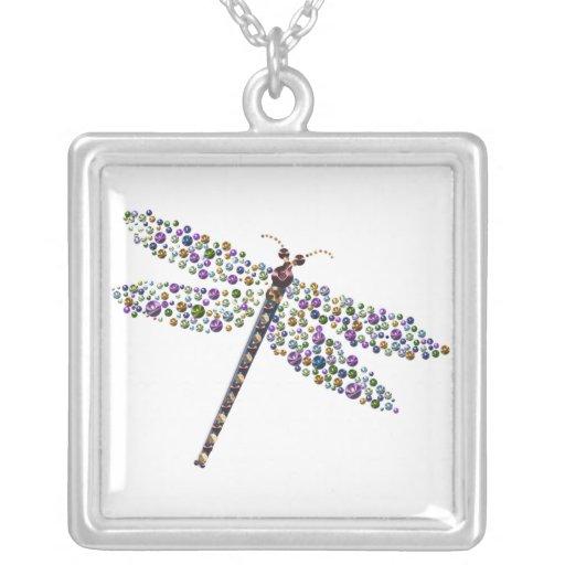Pointilist Dragon Fly Necklaces