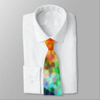 Pointillism Chakra Neck Tie