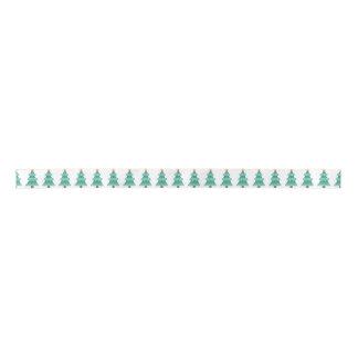 Pointillism Christmas Tree Star Ribbon