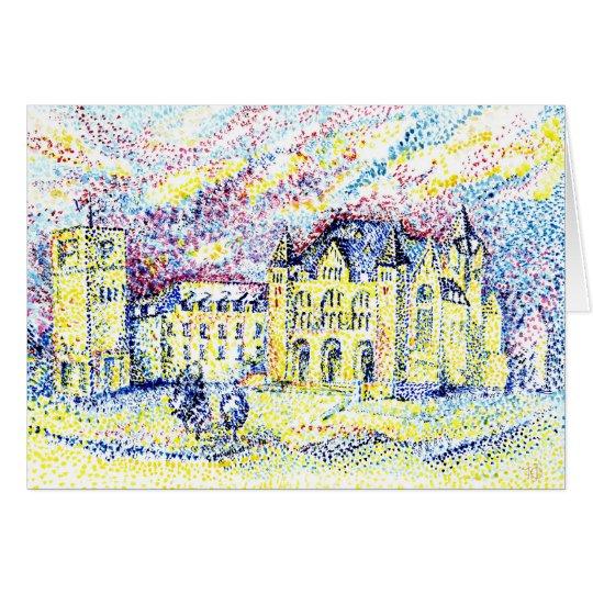 Pointillism city card