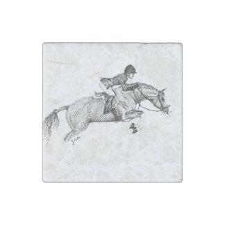 Pointillism del potro del cazador imán de piedra