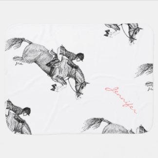 Pointillism del potro del cazador manta de bebé